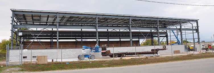 New industrial building under construction