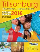 Tillsonburg Spring and Summer 2016 Programs and Services Guide