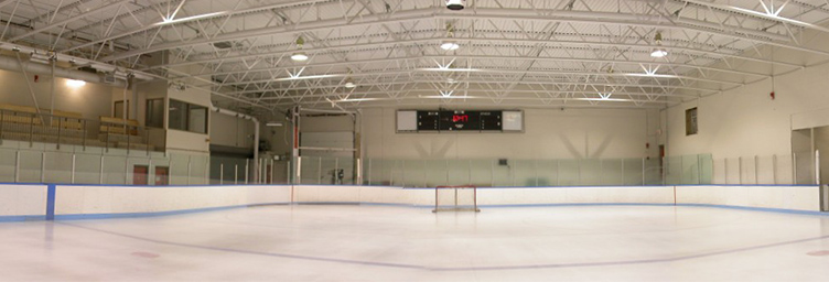 ice surface and seating in Colin Campbell arena