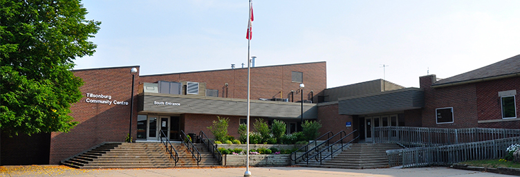 tillsonburg community centre south entrance