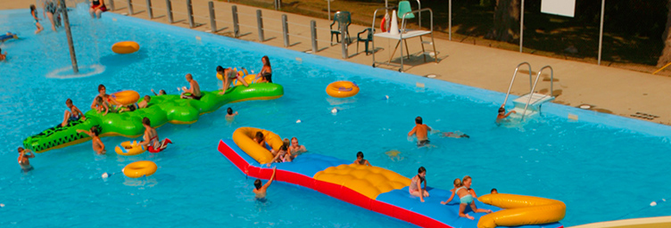 aerial view of waterpark