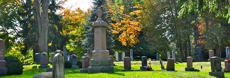 stones at Tillsonburg Cemetery
